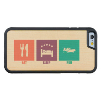 Essen Sie Schlaf-Lauf Bumper iPhone 6 Hülle Ahorn