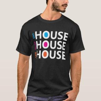 Essen Sie Schlaf-Livehaus-Musik - Dunkelheit T-Shirt