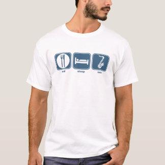 essen Sie Schlaf-Saxophon T-Shirt