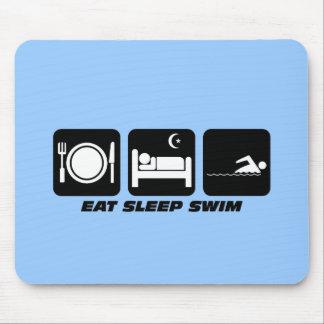essen Sie Schlaf-Schwimmen Mauspads