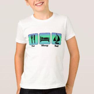 Essen Sie Schlaf-Segel-T - Shirt