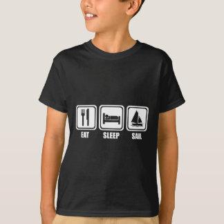 Essen Sie Schlaf-Segeln-T-Shirt T-Shirt