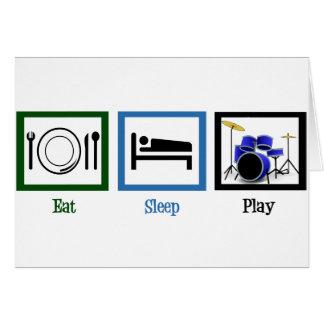 Essen Sie Schlaf-Spiel-Trommeln Karte