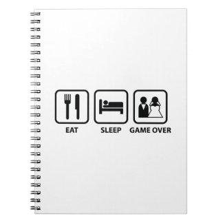 Essen Sie Schlaf-Spiel vorbei Notizbücher