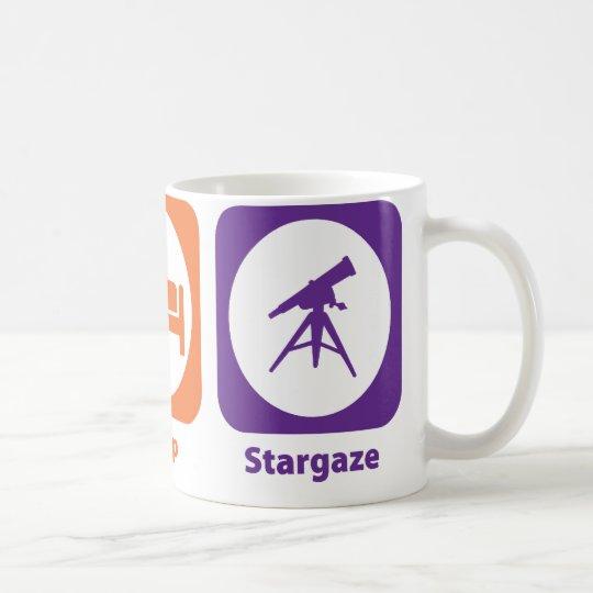 Essen Sie Schlaf Stargaze Kaffeetasse