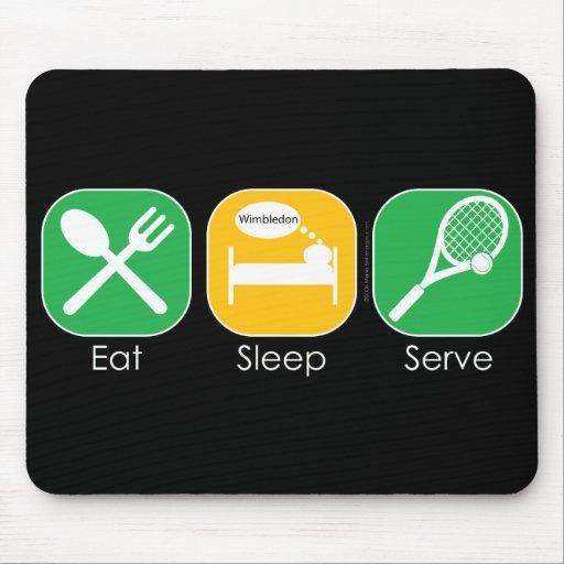 Essen Sie Schlaf-Tennis Mauspad