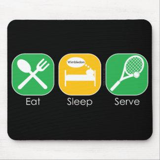 Essen Sie Schlaf-Tennis Mauspads