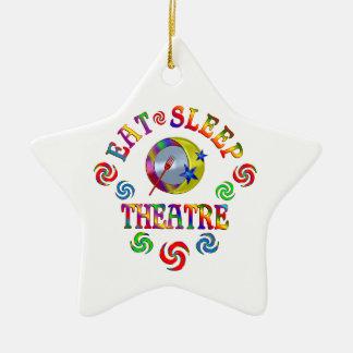 Essen Sie Schlaf-Theater Keramik Ornament
