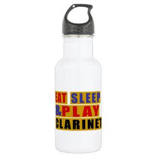 Essen Sie Schlaf und Spiel Clarinet Edelstahlflasche