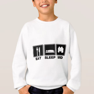 Essen Sie Schlaf-Vogel (Behälter) Sweatshirt