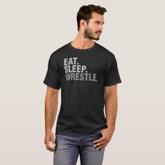 Essen Sie Schlaf-Wringen für Wrestlingfan T-Shirt