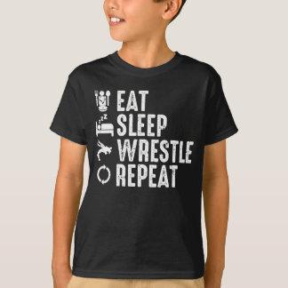 Essen Sie Schlaf-Wringen-Wiederholung T-Shirt