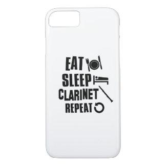 Essen Sie SchlafClarinet iPhone 8/7 Hülle