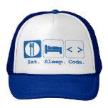 essen Sie Schlafcode (HTML) Retrokappe
