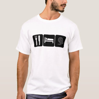Essen Sie, schlafen Sie, häkeln Sie T-Shirt
