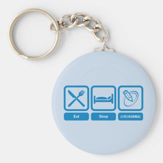 Essen Sie, schlafen Sie, LiveJournal Standard Runder Schlüsselanhänger