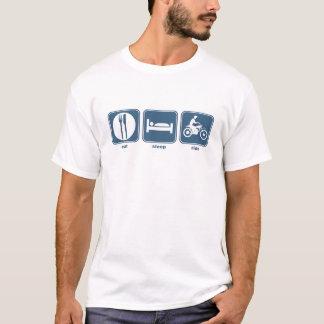 essen Sie, schlafen Sie, reiten Sie T-Shirt