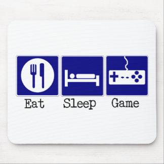 Essen Sie, schlafen Sie, Spiel Mousepad