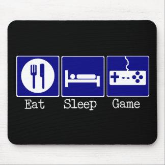 Essen Sie, schlafen Sie, Spiel Mousepads