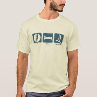 essen Sie, schlafen Sie, windsurf T-Shirt