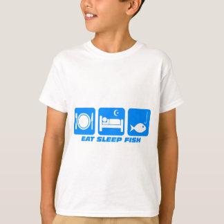 essen Sie Schlaffische T-Shirt