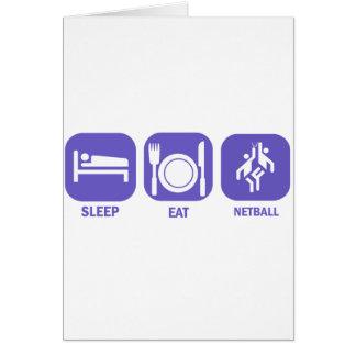 Essen Sie SchlafNetball Karte