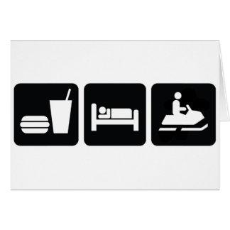 Essen Sie SchlafSnowmobile Karte