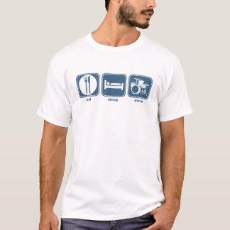 essen Sie Schlaftrommel T-Shirt
