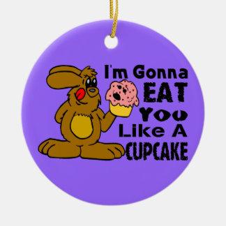 Essen Sie Sie mögen einen kleinen Kuchen Keramik Ornament