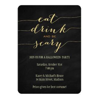 Essen Sie, trinken Sie, seien Sie beängstigende 12,7 X 17,8 Cm Einladungskarte