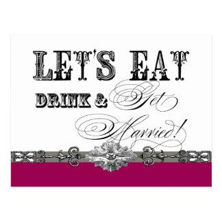 Essen Sie, trinken Sie und erhalten Sie Postkarte