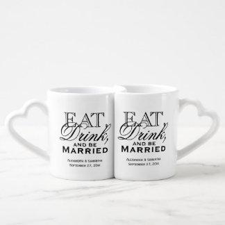 Essen Sie, trinken Sie und seien Sie verheiratete Paartassen