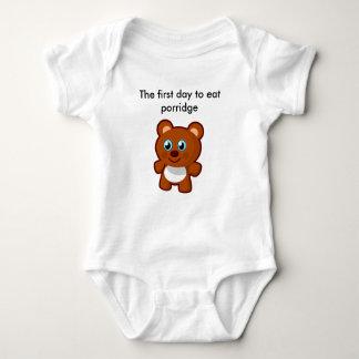 Essen Sie zuerst Baby Strampler