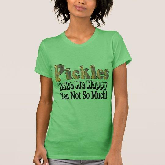 Essiggurken machen mich glücklich T-Shirt