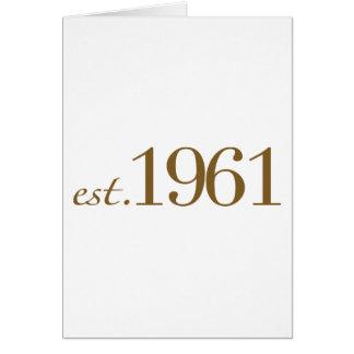 Est 1961 (Geburts-Jahr) Karte