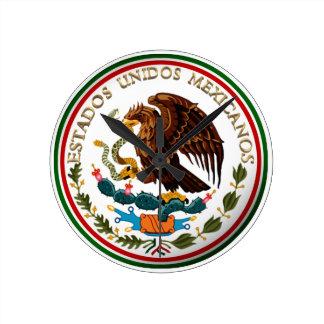 Estados Unidos Mexicanos (Eagle von der Runde Wanduhr