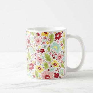 Estampe fleurie - Flower pattern Mug Blanc