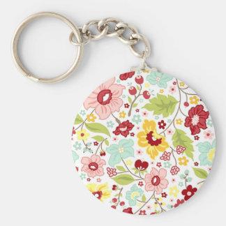 Estampe fleurie - Flower pattern Porte-clef
