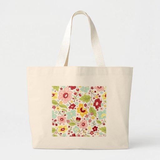 Estampe fleurie - Flower pattern Sacs De Toile