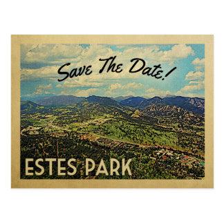 Estes Park Save the Date Colorado Postkarte