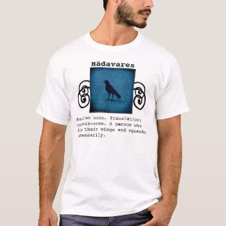 Estnisches Definitionst-shirt der lustigen Krähe T-Shirt