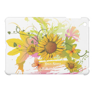 Été 1A floral Étuis iPad Mini