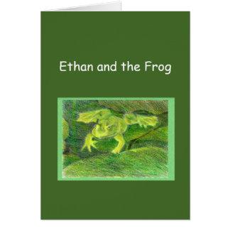 Ethan und der Frosch wenig Abenteuer-Schablone Karte