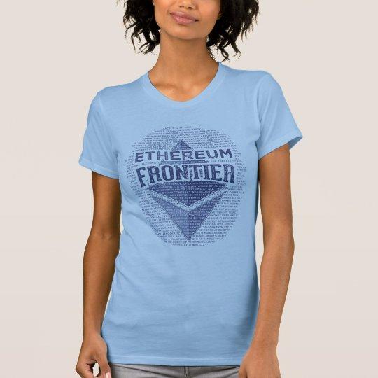 Ethereum Grenzursprüngliches Blau auf hellen T-Shirt