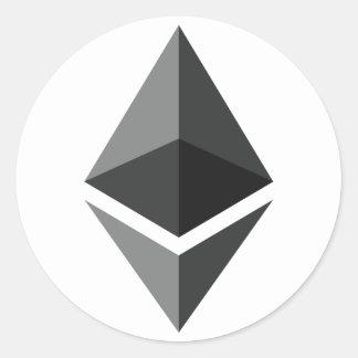 Ethereum Logo-Aufkleber Runder Aufkleber