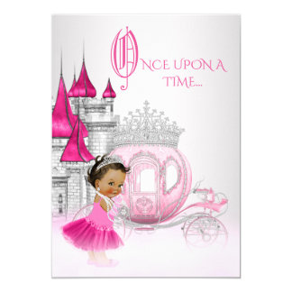 Ethnische Aschenputtel-Prinzessin Birthday Party Karte