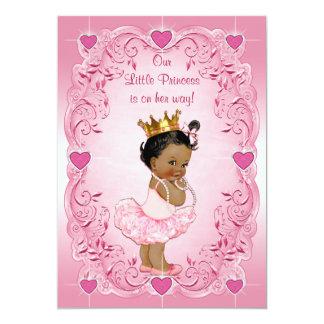 Ethnische Baby-Dusche Prinzessin-Ballerina Love 12,7 X 17,8 Cm Einladungskarte