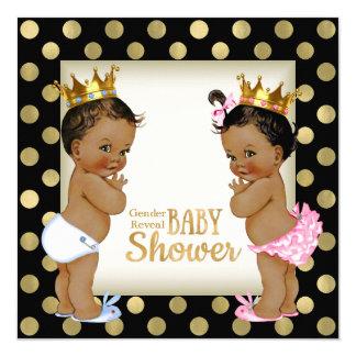 Ethnische Babyparty Prinz-Prinzessin Gender Reveal Quadratische 13,3 Cm Einladungskarte