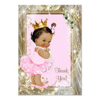 Ethnische Babyparty Prinzessin-Pearls Flat danken Karte