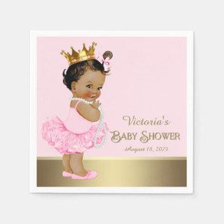 Ethnische Babyparty Prinzessin-Pink Gold Serviette